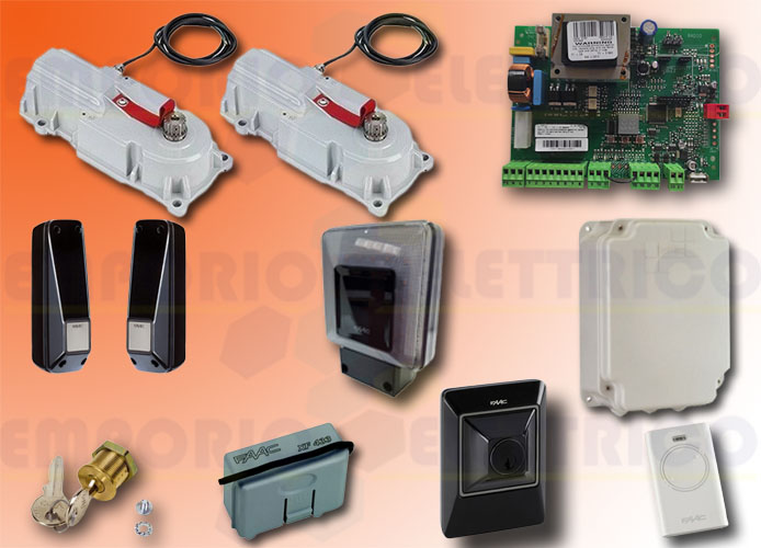 faac kit motorisation 230v ac power kit green 106746445
