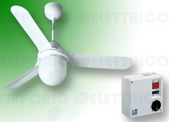 vortice kit ventilateur plafond nordik design is/l 160/60 blanc 61401 ev61401a