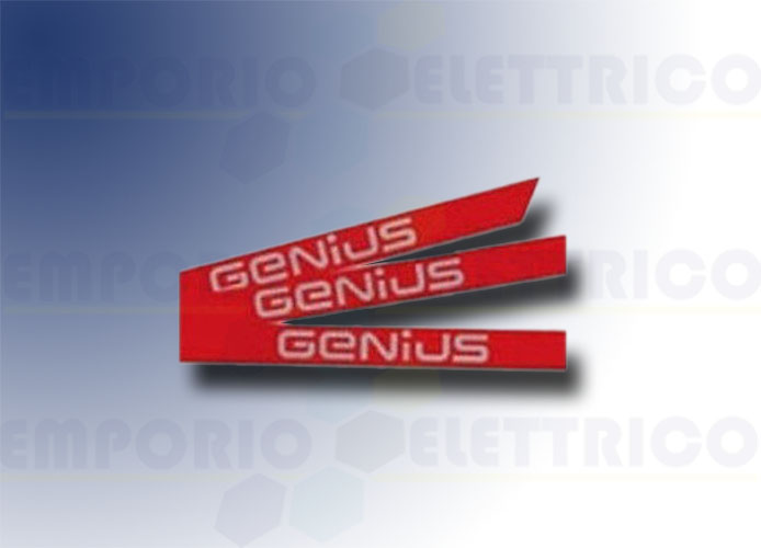 genius kit autocollants avec logo genius pour tige simple 6100201
