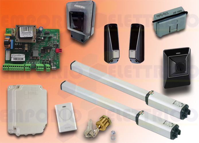 promo faac kit motorisation 230v ac leader kit green 105633445
