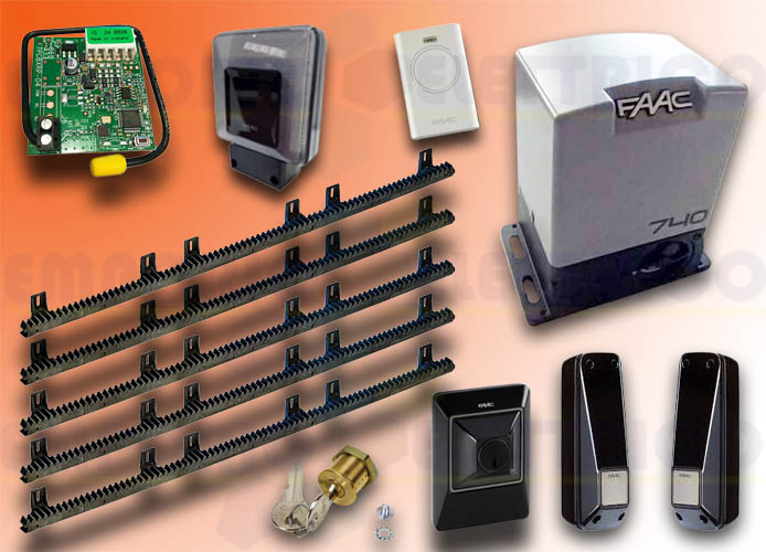 faac kit automatisation delta2 kit safe + 5mt crém nyl emp1056303445crem5